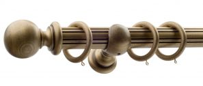 50mm Monarch Countess Bronze Complete Curtain Pole Set 300CM