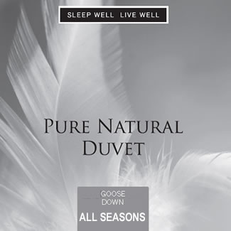 Sleep Well Live Well All Seasons Goose Down Duvet - Single 135 x 200cm