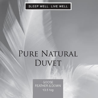 Sleep Well Live Well 13.5 Tog Goose Feather & Down - Single 135 x 200cm