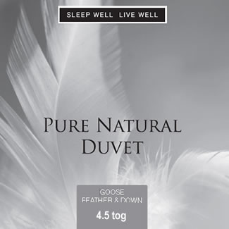 Sleep Well Live Well 4.5 Tog Goose Feather & Down - King 225 x 220cm