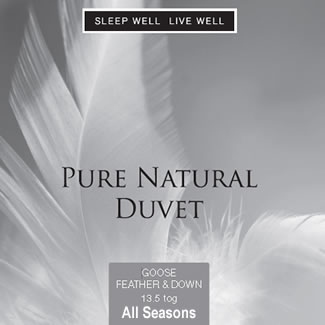 Sleep Well Live Well All Seasons Goose Feather & Down Duvet - Double 200 x 200cm