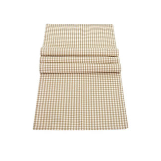 Walton & Co. Auberge Biscuit Table Cloth 100% Cotton - Runner 40x140CM