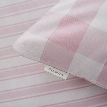 Bianca Check and Stripe Pink Fitted Sheet - Single