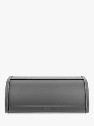 Brabantia Roll Top Bread Bin - Platinum