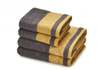 Catherine Lansfield Linear Diamond Grey Towel Bale