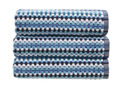 Christy Carnaby Stripe Bath Sheet - Blue