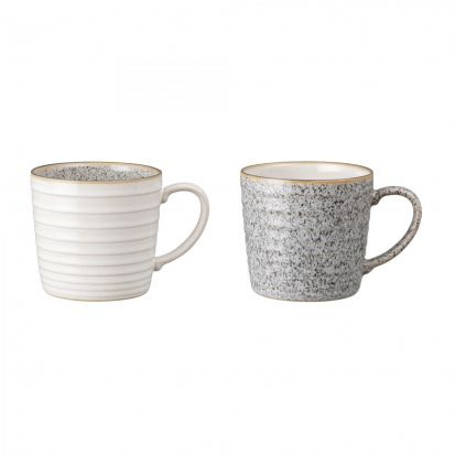 Denby Studio Grey 2 Piece Ridge Mug Set