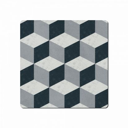 Denby Studio Grey Geometric Square Placemats Set of 6