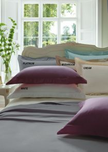 Dorma 300 Thread Count Cotton Sateen Fitted Sheet Double Mushroom