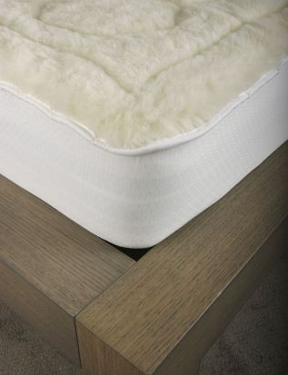 Elainer Faux Lambswool Mattress Protector Superking