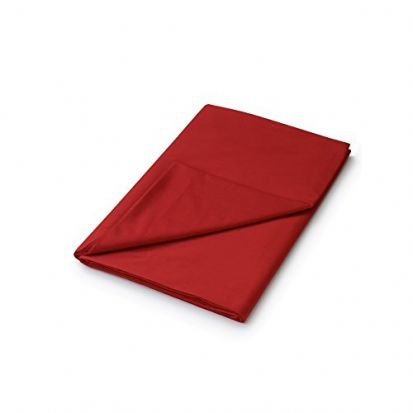 Helena Springfield Plain Dyed Red Flat Sheet - Double