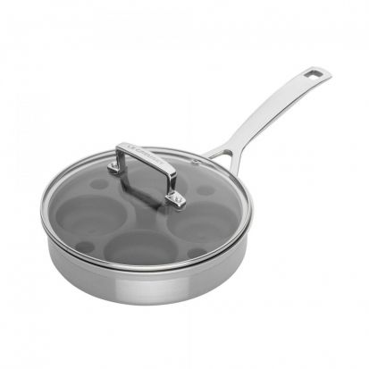 Le Creuset 3-ply Saute Pan with Non-Stick Poaching Insert