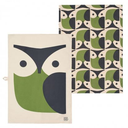 Orla Kiely Owl Tea Towel - Set of 2