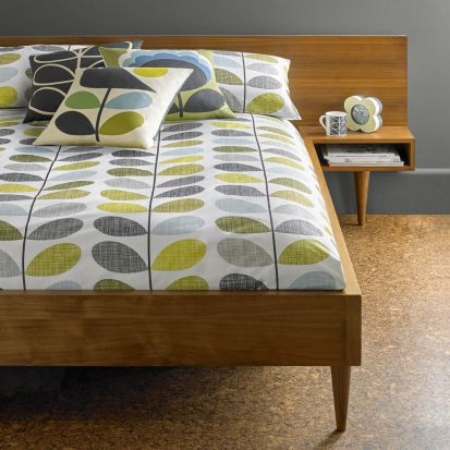 Orla Kiely Scribble Stem Duvet Cover Duckegg Seagrass Single