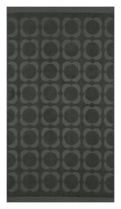 Orla Kiely Sculpted Flower Bath Towel - Charcoal