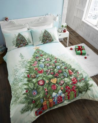 Portfolio Christmas Tree Duvet Cover Set Double