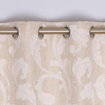 Rochelle Eyelet Curtains Champagne 132