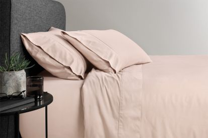 Sheridan 500 Thread Count Cotton Sateen King Fitted Sheet Angel