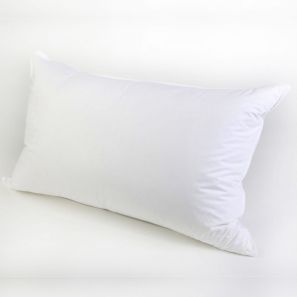 Sleep Well Live Well White Goose Feather & Down Pillow