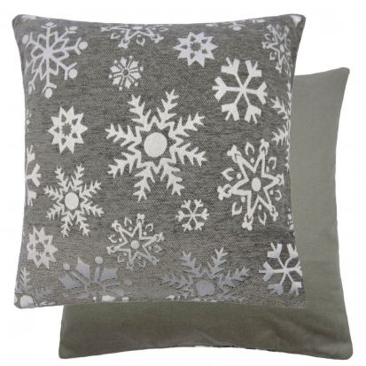 Sparkle Snowflakes Cushion Cover