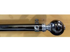 Starr Black Nickle 180CM Smooth Segmented Ball Curtain Pole Set