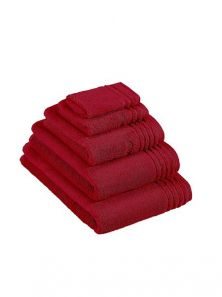 Vossen Vienna Supersoft Rubin Red Guest Towel