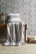 Behrens Faux Fur Throw Grey 130x180cm 2