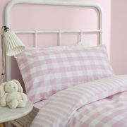 Bianca Check and Stripe Pink Duvet Cover Set - Double 3