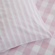 Bianca Check and Stripe Pink Duvet Cover Set - Double 5