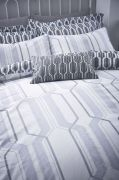 Bianca Cottonsoft Geo Duvet Cover Set Grey - King 2