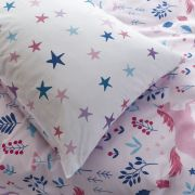 Bianca Woodland Unicorn and Stars Pink Duvet Cover Set - Single 4