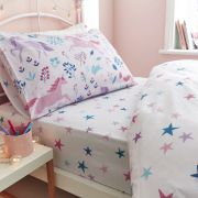Bianca Woodland Unicorn and Stars Pink Fitted Sheet - Double