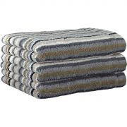 Cawo Lifestyle Stone Stripe - Bath Towel