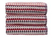 Christy Carnaby Stripe Hand Towel - Berry