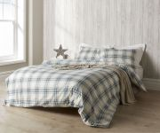 Christy Thurloe Check Duvet Cover Set Blue - Single