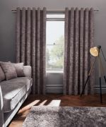 Clarke & Clarke Naples Heather Curtains - 90