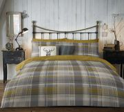 Dreams and Drapes Connolly Check Duvet Cover Set - Double