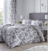 Dreams and Drapes Marinelli Grey Duvet Cover Set - Single