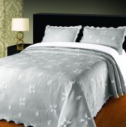 Elainer Julia Bedspread Grey/Silver - Superking