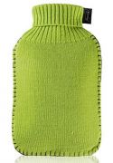 Fashy Hot water Bottle with Green Knitted Cover