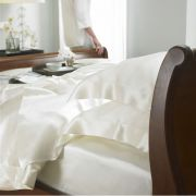 Gingerlily 100% Silk Ivory Fitted Sheet - Double