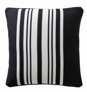 Karen Millen Stripe Square Cushion Black/White