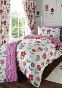Kids Club Little Flowers Readymade Curtains 66
