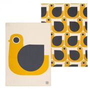 Orla Kiely Hen Tea Towel - Set of 2