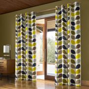 Orla Kiely Multi Stem Duckegg Eyelet Curtains - 66