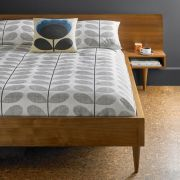 Orla Kiely Scribble Stem Duvet Cover Light Concrete Seagrass Single