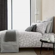 Peacock Blue Hotel Siena Silver Duvet Cover Set - Double