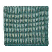 Peacock Blue Trisara Emerald Knitted Throw 130x150cm