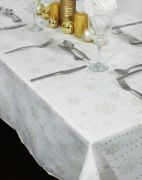 Peggy Wilkins Sparkly Snowflakes Tablecloth 53