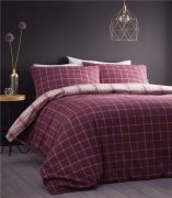 Portfolio Iona Plum Brushed Cotton Duvet Cover Set - Double